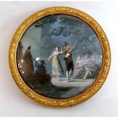 Miniature La Danse Par Alexandre Jean Noël, XVIIIème Siècle