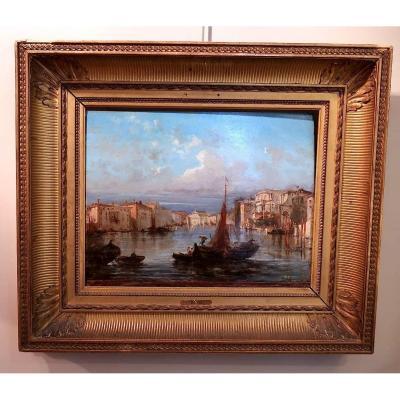 Vue De Venise Par Giuseppe Rossi, XIXème Siècle