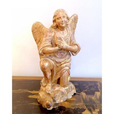 18th Century Golden Wood Angel