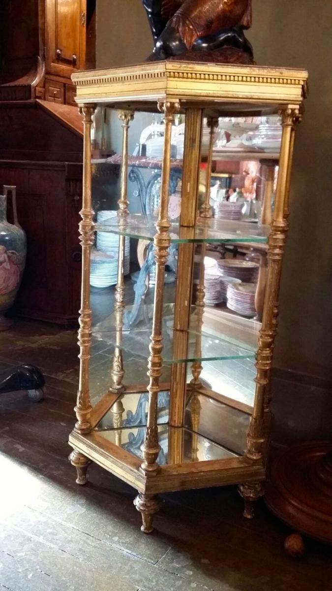 Une Sellette En Bois Doré, Effet Miroir , d'époque Napoléon III