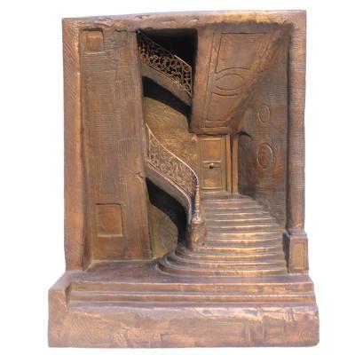 """L'Escalier"", Alain Kleinmann et S.E Woloch, bronze, 2013"