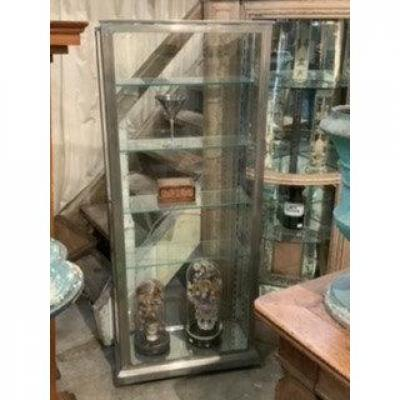 Nickel-plated Brass Display Cabinet