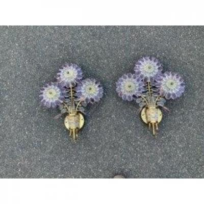 Pair Of Flower Appliques