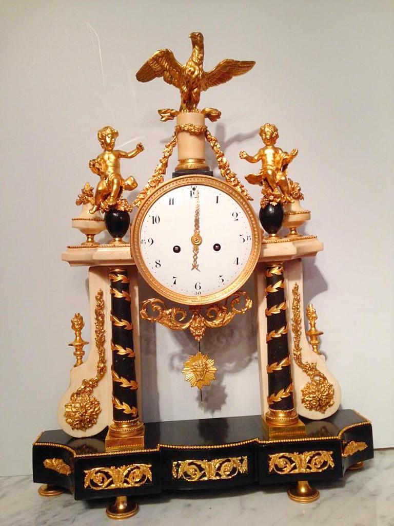 Grande Pendule portique d'époque Louis XVI