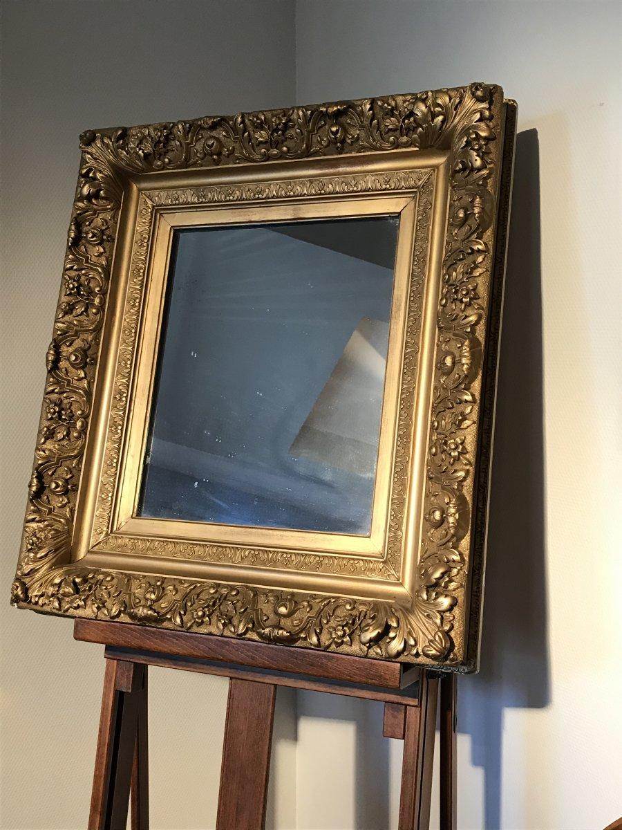 Miroir bois doré et stuc Napoléon III