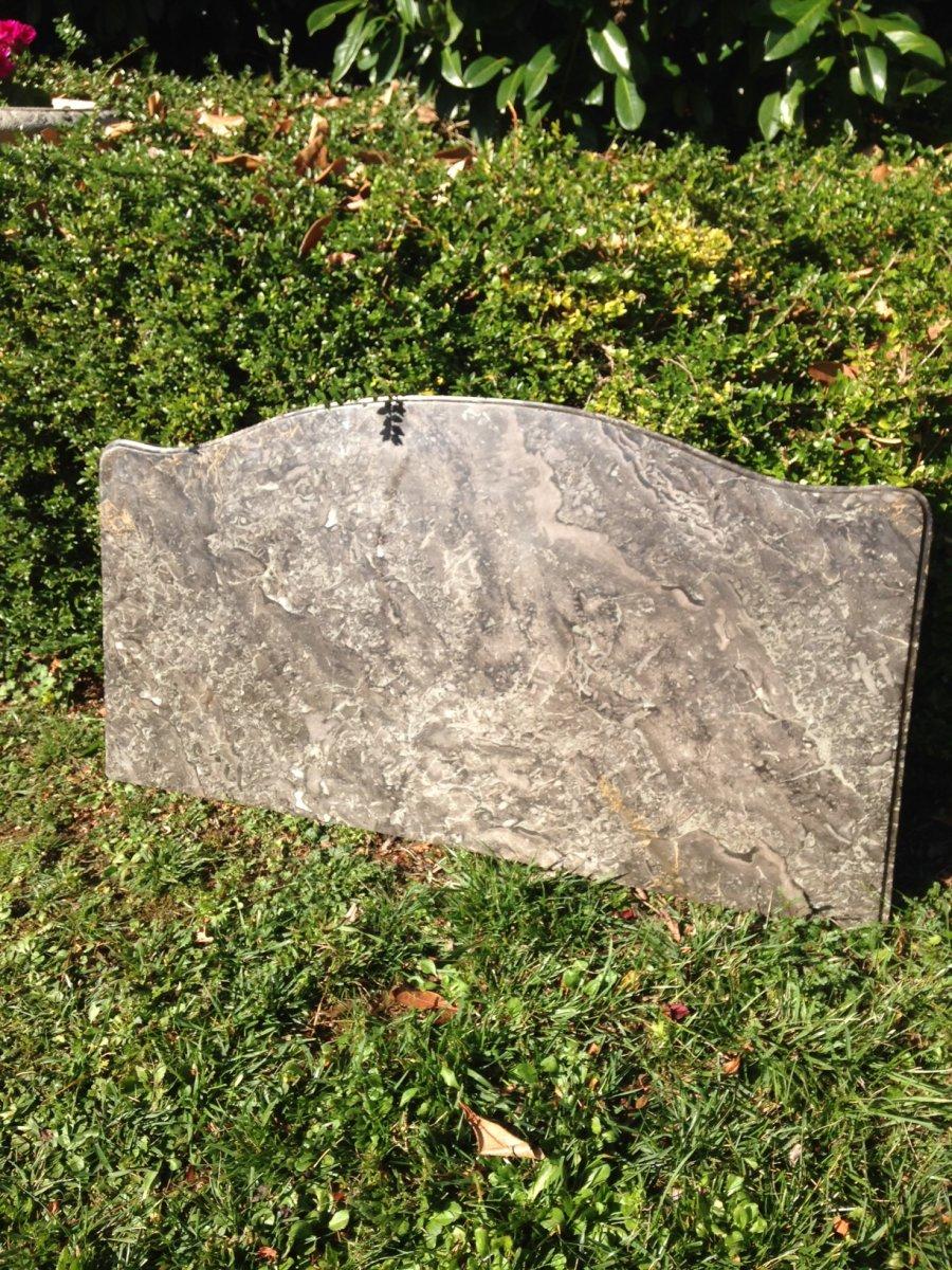 Plateau Marbre de commode Louis XV, XVIIIe, gris de Ste Anne