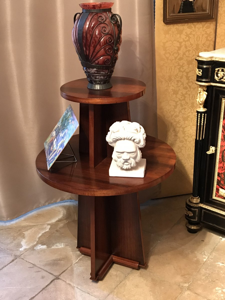 Pedestal Console Table Art Deco Twentieth Table