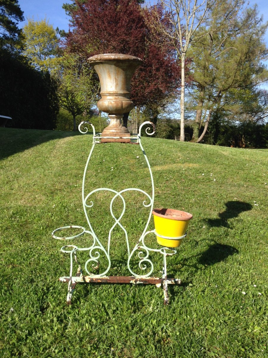 Wrought Iron Flowerpot Display Elements Of Early 20th Century Garden Architecture