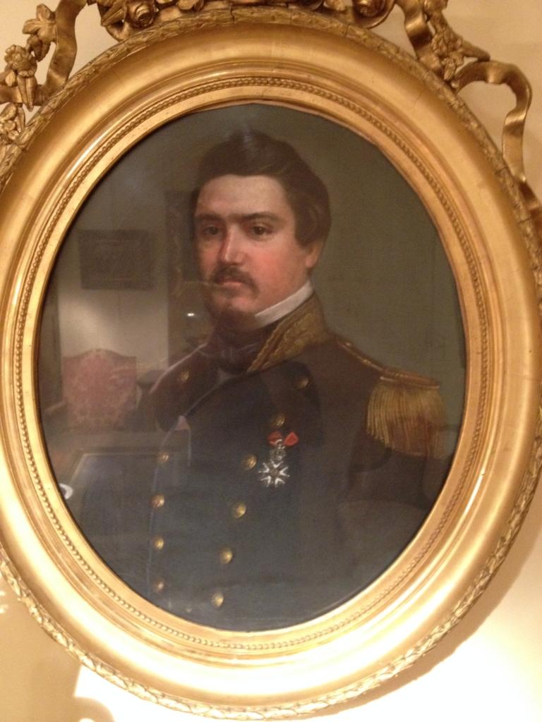 Pastel d'Officier XIXe