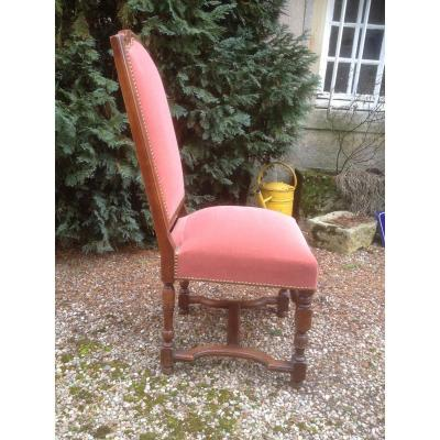 Series 7 Chairs Style Louis XIV Cherrywood