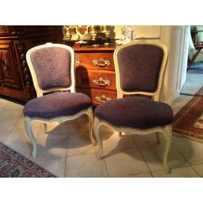 Pair Of Louis XV Style Chairs - Twentieth