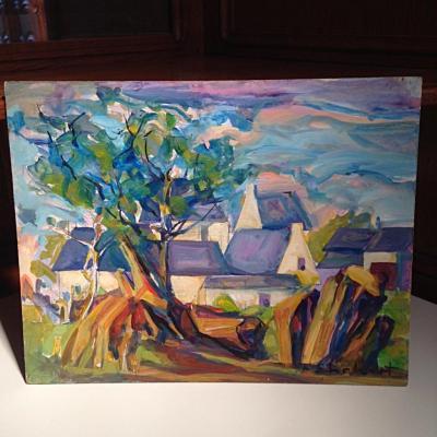 Ensemble 4 Peintures acrylique sur panneau François Ehrhart
