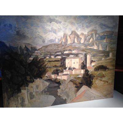 Peinture acrylique «Aveyron» de François Ehrhart