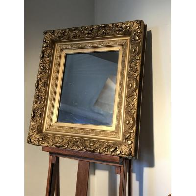 Gilded Wood Mirror And Stucco Napoleon III