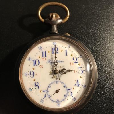 Steel Regulator Watch, Late 19th Century