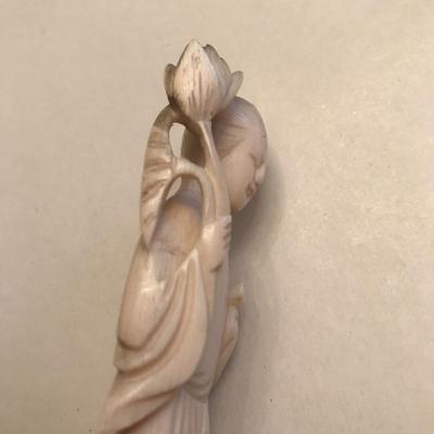 XXth Geisha Ivory Sculpture