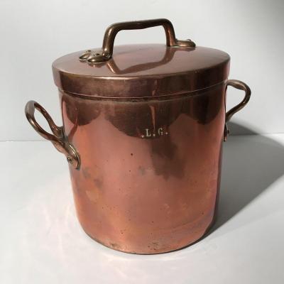 Faitout cuisine en cuivre XIXe