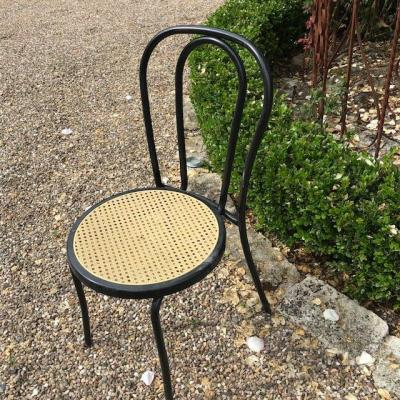 Set Of 9 Bistro Stackable Chairs From The 20th Century