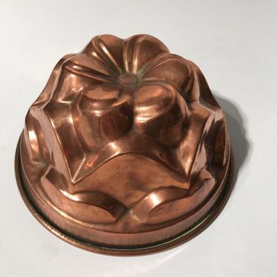 19th Century Alsace Kouglof Mold In Copper