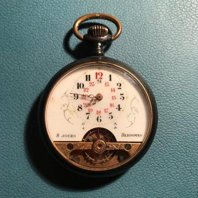 8-day Heéquence Suisse Pocket Watch