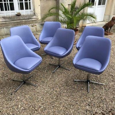 Series Of 6 Designer Gondola Chairs 60-70