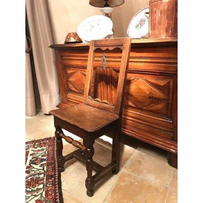 Chaise lorraine XVIIIe chêne style Haute Epoque