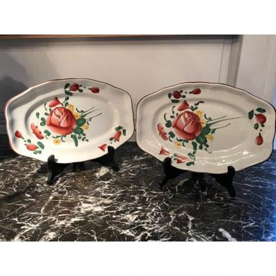 Pair Of 18th Century Lunéville Earthenware Dishes