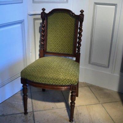 Chaise de coin de feu style Louis XIII, XIXe