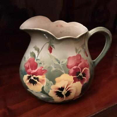 Earthenware Jug From Lunéville St Clément 19th Century,
