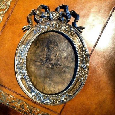Cadre bronze style Louis XVI, XIXe