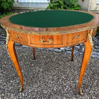 Table à jeux style Louis XV ronde,  XXe