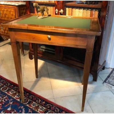 Table bureau époque Directoire noyer fin XVIIIe