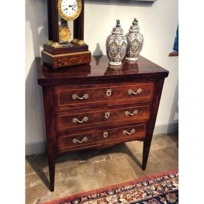 Small Louis XVI Style Mahogany Chest Of Drawers Cuba Late 19th Century