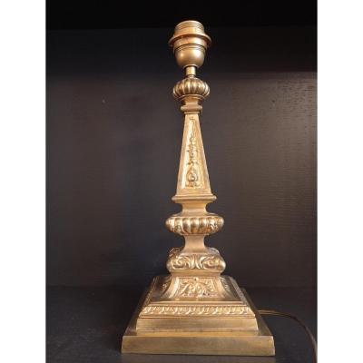 Lampe Bronze Doré