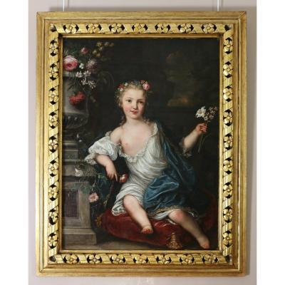 David Luders (Hambourg 1710-Moscou 1759)-signé Et Daté 1745. Portrait d'Une Jeune Princesse.