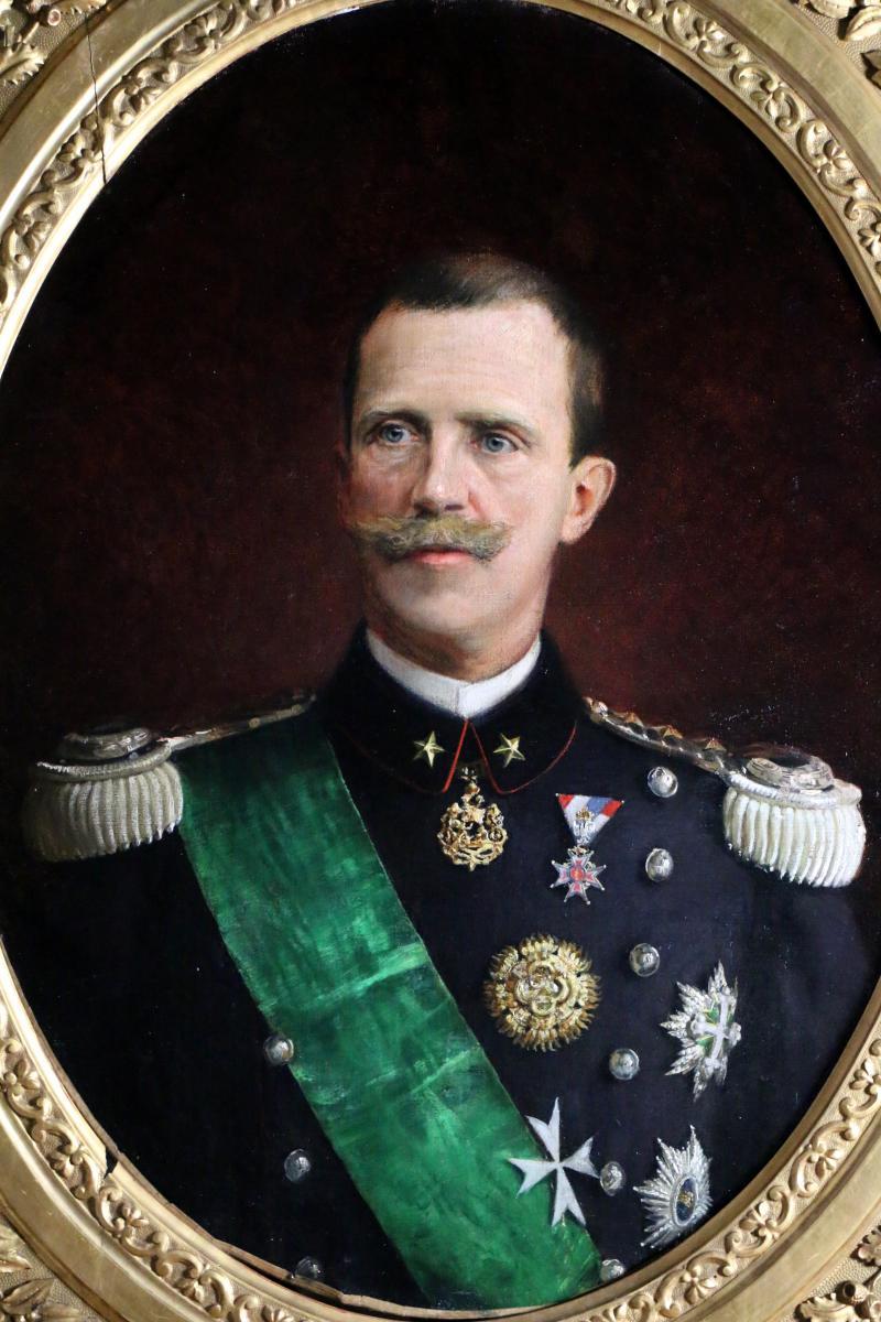 Victor-Emmanuel III -dernier Roi D'italie.Grand portrait signé et daté