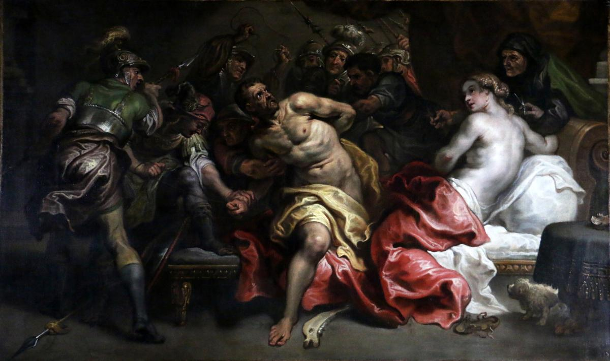 Simon De Vos (Anvers 1603 – 1676) l'Arrestation De Samson