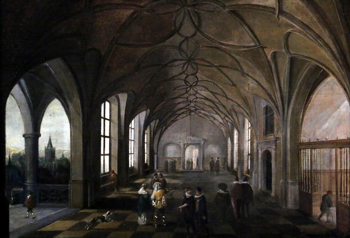 Hendrik Van Steenwijk I (1550-1603) - Palais Royal De Prague-salle Du Trône