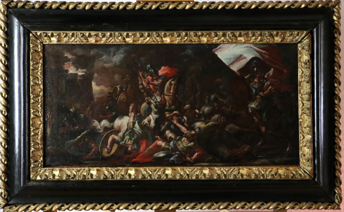Luca Giordano (1634-1705) et atelier. Scène de bataille