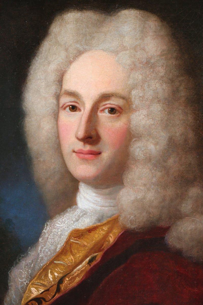 Henri Millot (mort en 1759) élève de Nicolas de Largillières-attribué- Portrait-premier tiers du XVIIIè siècle.