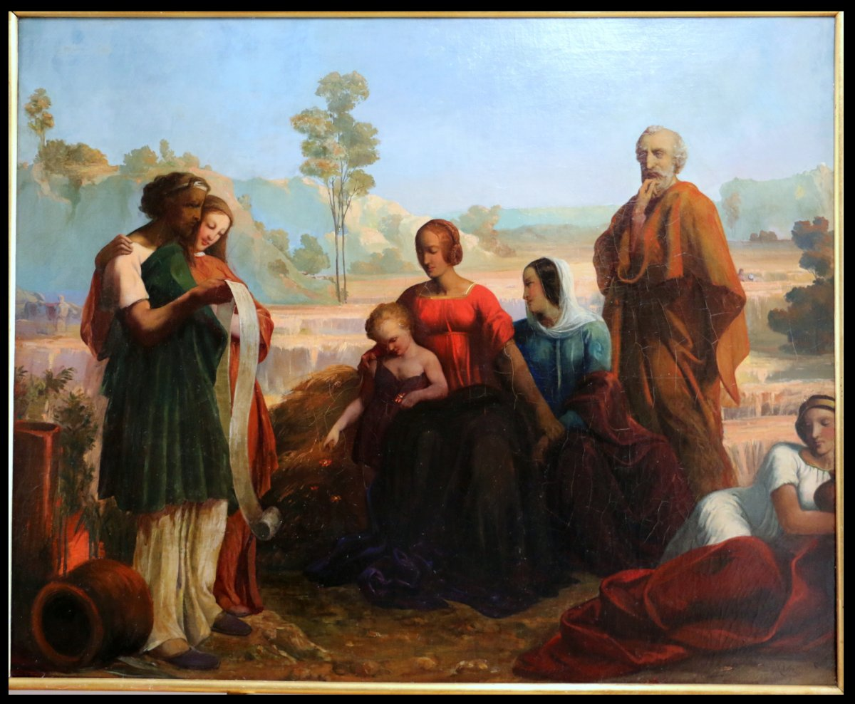 Romain Cazes (1808-1881)-attribué, élève d'Ingres-grande Scène Mythologique.