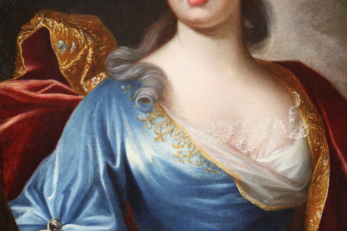 Nicolas De Largillière (1656-1746) Et Atelier-portrait d'Une Jeune Dame De Qualité Vers 1700.