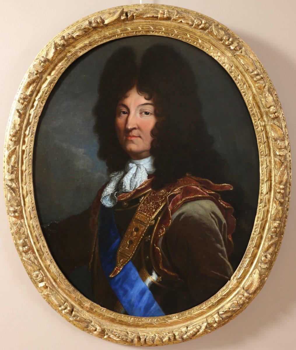 Hyacinthe Rigaud (1659-1743) Et Atelier- Portrait De Louis XIV (version De 1694)