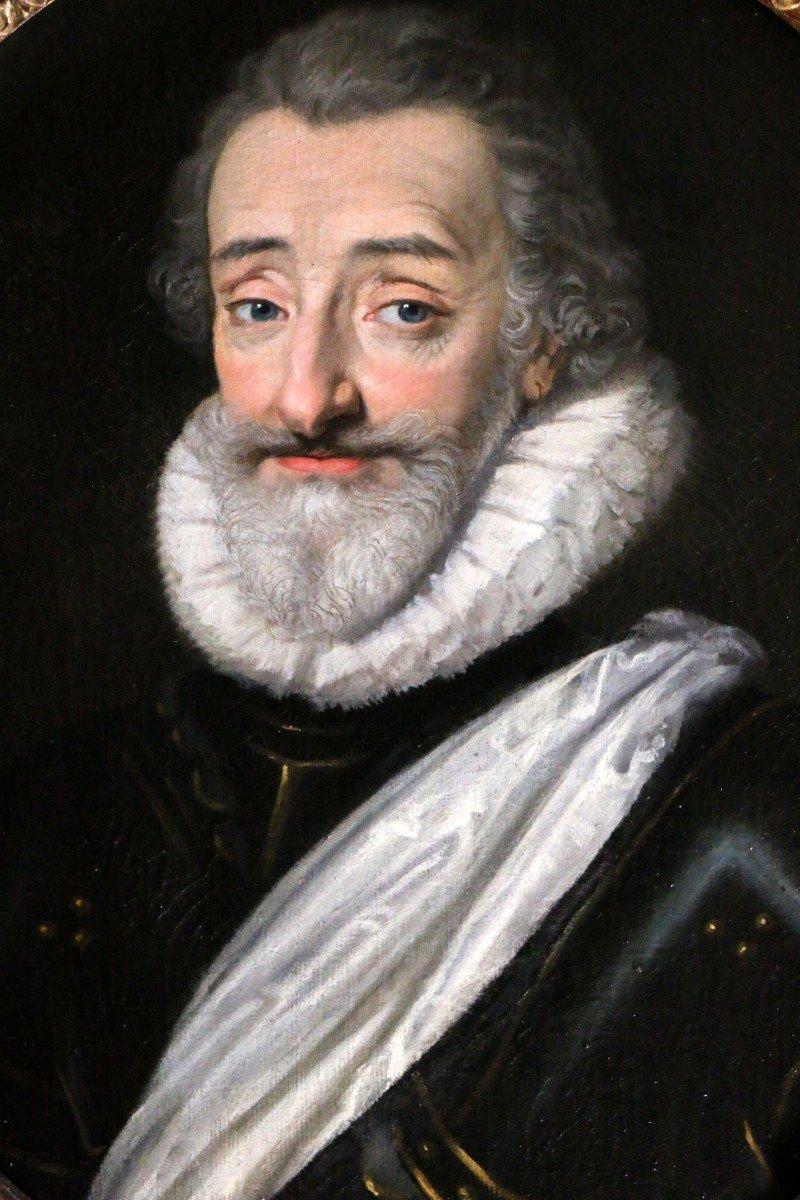 Portrait d'Henri IV (1553, 1610) Ecole Française De La Fin Du XVIIIè d'Après Frans II Pourbus