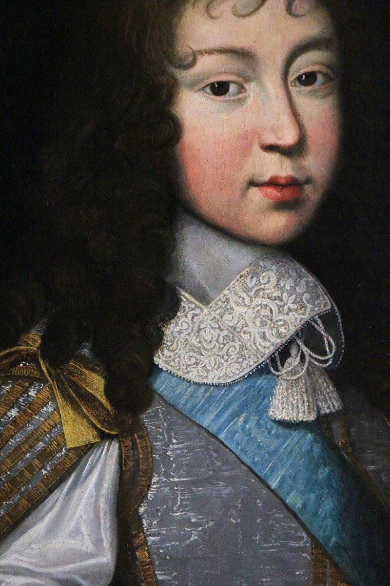 Louis Ferdinand II Elle l'ancien (1612; 1689) Attribué. Portrait De Louis XIV Enfant,  Vers 1646-photo-3