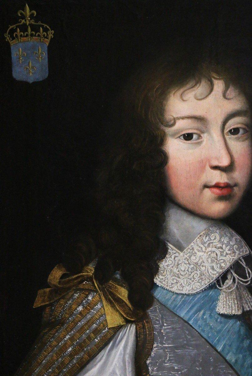 Louis Ferdinand II Elle l'ancien (1612; 1689) Attribué. Portrait De Louis XIV Enfant,  Vers 1646-photo-4