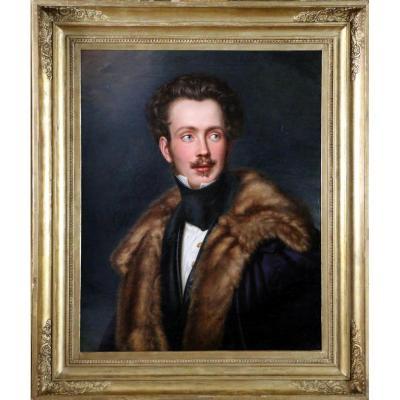 Portrait Of Augustus Charles Eugene Napoleon Of Beauharnais - Joseph Bernhardt (1805-1885)