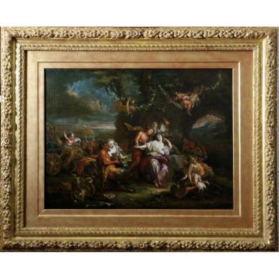 Charles Antoine Coypel (1694-1752)-Bacchus Et Ariane Sur L'île De Naxos