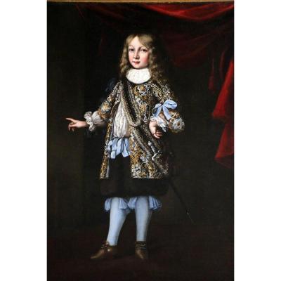 Justus Sustermans (1597-1681)-grand portrait d'un jeune prince