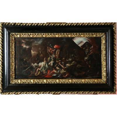 Luca Giordano (1634-1705) And Workshop. Battle Scene